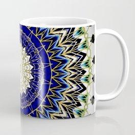 Bohemian Bright Blue and Gold Mandala Coffee Mug
