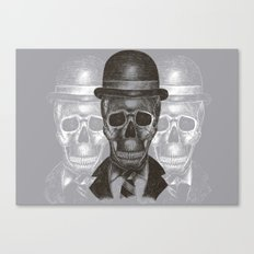 Worked To Death (Grey version) Canvas Print