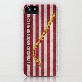 First Navy Jack flag of the USA, vintage iPhone Case