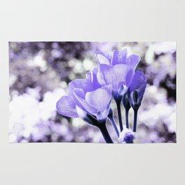Periwinkle Flowers Rug