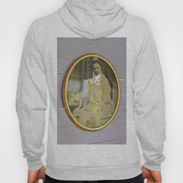 Lady portrait in golden frames Hoody