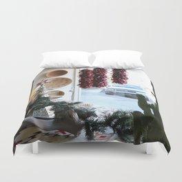 Christmastime Cacti Duvet Cover