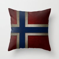 norway Throw Pillows featuring Norway by The Traveller, Wanderlust and Me