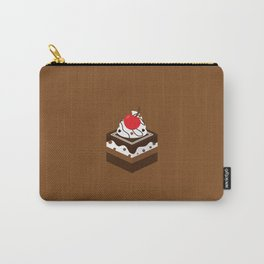 Brown Chocolate Cake Carry-All Pouch