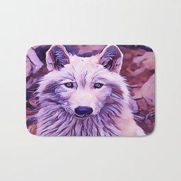 The Arctic Wolf Bath Mat