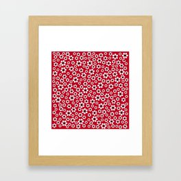 Dizzy Daisies - Red 2 - more colors Framed Art Print