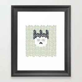 Hygge Knit King Framed Art Print