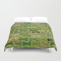 bow Duvet Covers featuring Bow ties by Akwaflorell