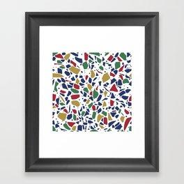 Terrazzo Spot Color on White Framed Art Print