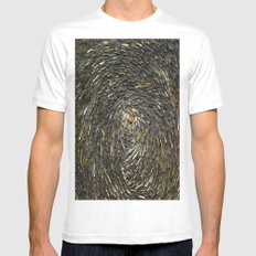 Haystack White MEDIUM Mens Fitted Tee