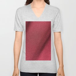 Red Polyester clothing texture. Unisex V-Neck