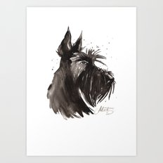 Scottish Terrier profile Art Print