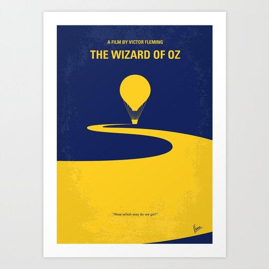 No177 My Wizard minimal movie poster OZ Art Print