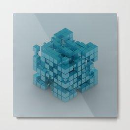 Cube Bubbles Metal Print