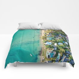 Aerial Beach View Comforters