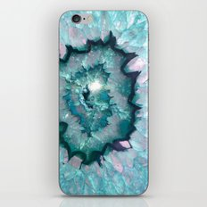 Teal Agate iPhone Skin