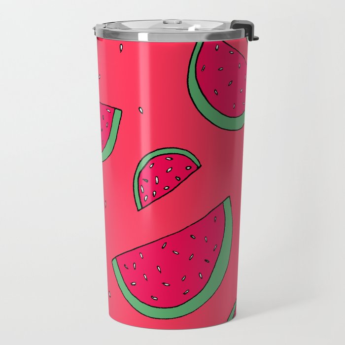 The Joy of Eating Watermelon in the Summer Travel Mug