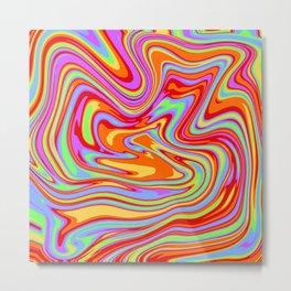 Melted Rainbow Metal Print
