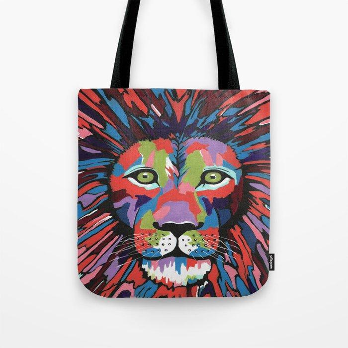 Flamboyant Lion Tote Bag