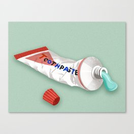 Minty Fresh Toothpaste Canvas Print