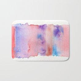 141217 Abstract Watercolor 7 Bath Mat
