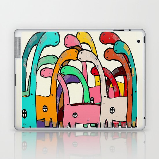 Dino Disco Laptop & iPad Skin