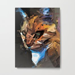 Cat of Gold X1 Metal Print