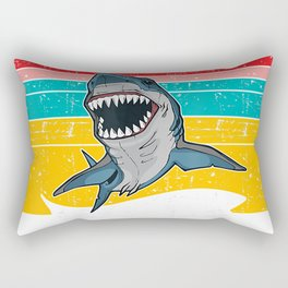 Womens Mens Sorry I Cant Its Week Vintage Shark Style Art T-Shirt Rectangular Pillow