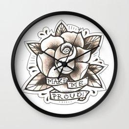 Make Me Proud Rose Wall Clock
