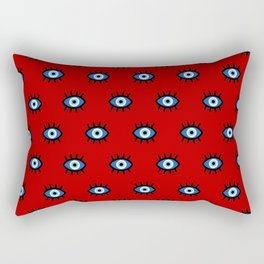 Evil Eye on Red Rectangular Pillow