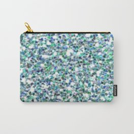 Teal Mermaid Scales Queen Carry-All Pouch