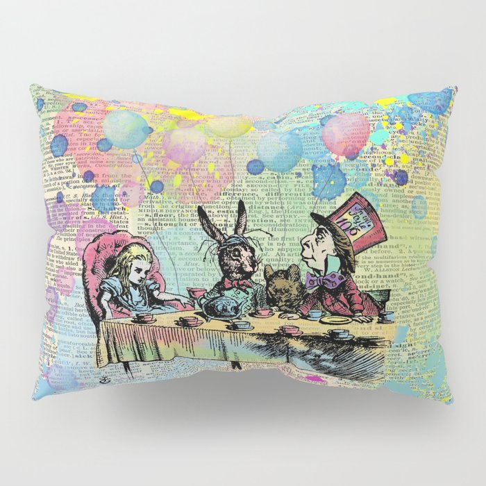 Tea Party Celebration - Alice In Wonderland Pillow Sham