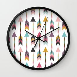 Bohemian Arrows-Pattern Wall Clock
