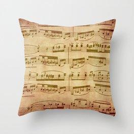 Vintage Sheet Music Throw Pillow