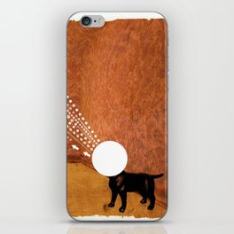 retro dog iPhone Skin
