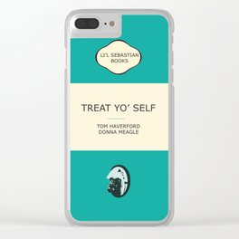 Treat yo' self - the book Clear iPhone Case