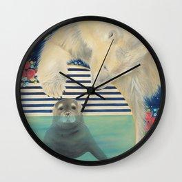 Polar Plunge Wall Clock