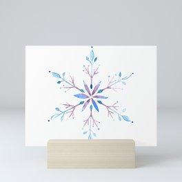 Watercolor Snowflake Mini Art Print
