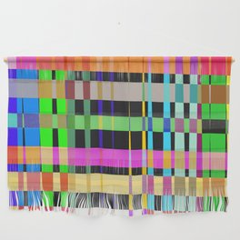 inclined coloured stripes Wall Hanging
