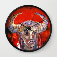 native Wall Clocks featuring NATIVE by kaiartem