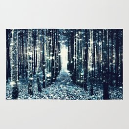 Magical Forest Teal Gray Elegance Rug
