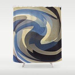 Bluetan Swirl Shower Curtain