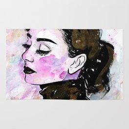Loose Watercolor & Ink Audrey Rug