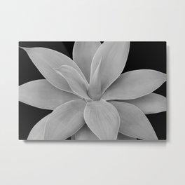 Gray Black Agave Romance #1 #tropical #decor #art #society6 Metal Print