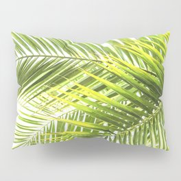 Palm leaves tropical illustration Pillow Sham