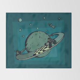 Space race Throw Blanket