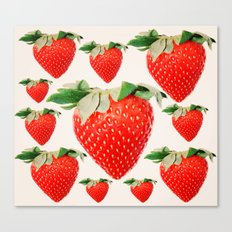 strawberry explosion Canvas Print