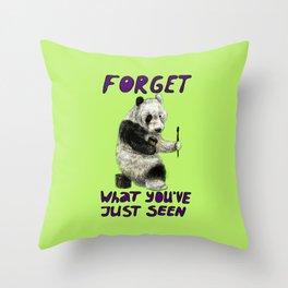Conspiracy // false panda Throw Pillow