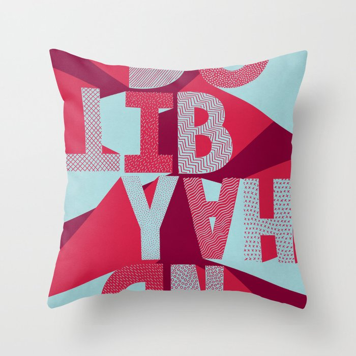 DO IT BY HAND! Throw Pillow