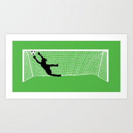 Leaping Keeper Art Print